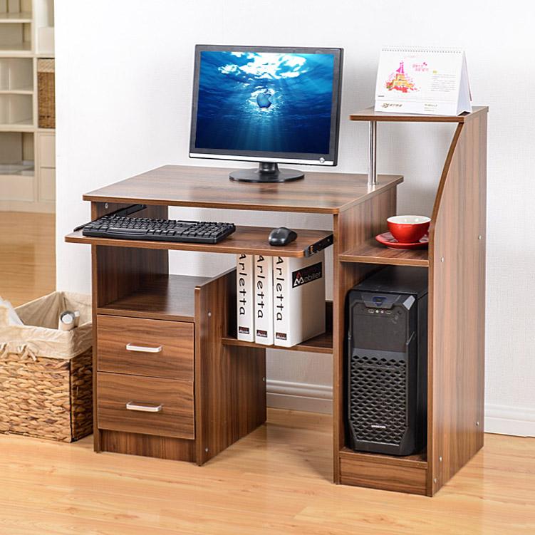 板式电脑桌书柜