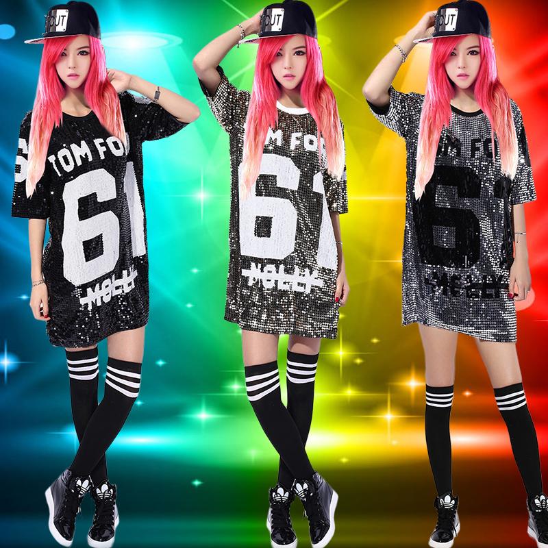 新款嘻哈爵士舞蹈服学生劲舞表演服成人现代舞劲舞ds演出服舞台装