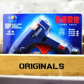 电热熔胶枪 手工DIY制作家用 胶水溶胶抢 热融胶棒 固体胶小号20W