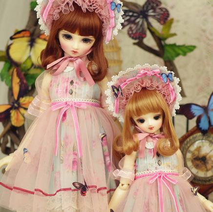 AMORS品牌bjd娃娃衣服sd洋装3分4分尺寸洋服连衣裙套装花与蝶现货
