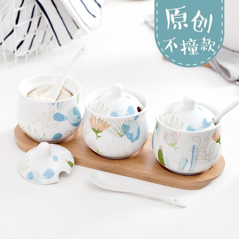 粮油调味_创意陶瓷调味罐 3件套5元优惠券