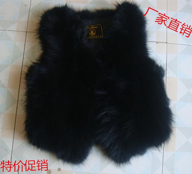 Dealing with non-famous clothing fox fur grass vest hair female short section slim vest vest
