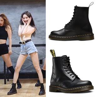 夏季马丁靴女英伦风学生厚底透气机车靴子女短靴筒chic工装 靴薄款