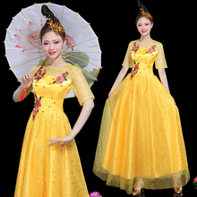 Opening Dance Dress Dance Dress Female Adults New Square Dance Dress Guzheng Show Dress