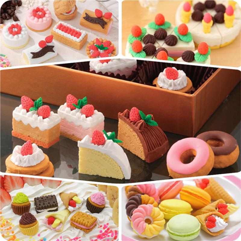 创意橡皮文具 新款草莓蛋糕奶酪系列橡皮擦 学生奖品六一礼品