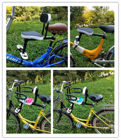 Bicycle child seat electric car baby front safety seat folding bicycle child all around shock seat