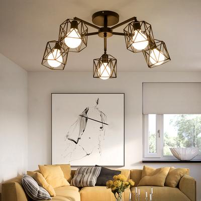 北欧宜家led客厅吸顶灯 卧室灯具 美式简约田园餐厅创意铁艺灯饰品牌巨惠