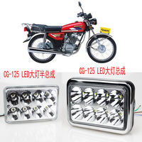 Wuyang motorcycle led headlight assembly far and near light bulb front headlights spotlights super bright built-in