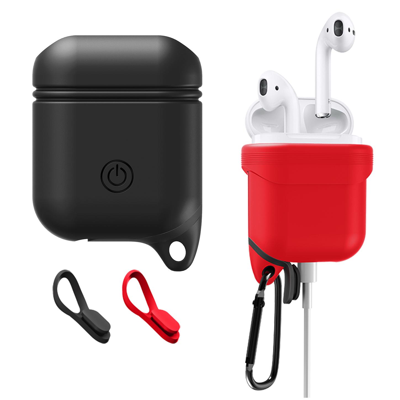 Hi-RiCE  苹果无线耳机盒AirPods保护套配件硅胶套不沾灰防丢绳