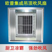 厨房凉霸集成吊顶电风扇卫生间嵌入式冷风机换气扇遥控冷霸小米