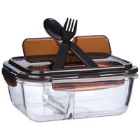 Locks buckle lunch box flagship store lunch box heat-resistant glass separation lunch box microwave oven rectangular lunch box
