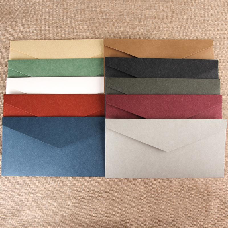 复古烫金信纸信封套装 可定制公司LOGO印刷简约 5号情书西式信封