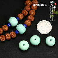 Natural Hubei original ore turquoise barrel beads drum beads loose beads beads beads beads diamonds Xingyue Bodhi accessories