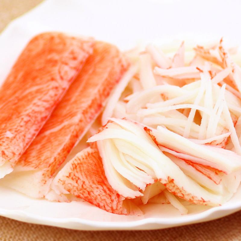 可莱美蟹味棒韩国蟹肉蟹棒即食手撕蟹柳模拟蟹肉棒无法呼吸蟹足棒