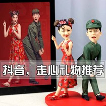 Soft Taoren puppet custom waxwork diy mud man sculpture Tao photo custom wedding Couple Gift