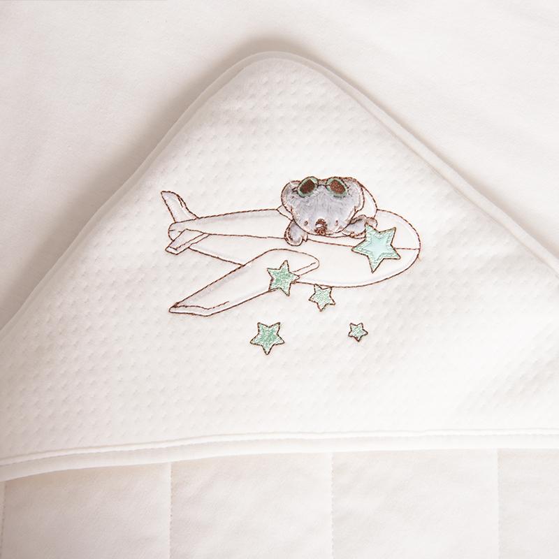 【床品】梦洁宝贝婴幼儿针织抱被纯棉婴童抱毯国家A类新生儿睡袋