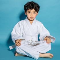 柔道服加厚标准男女纯棉柔道服装新手儿童成人蓝白色比赛衣服热卖