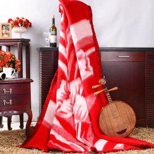 上海 凤凰毛毯全羊毛纯羊毛水波纹羊毛毯厚实90年历史中华老字号