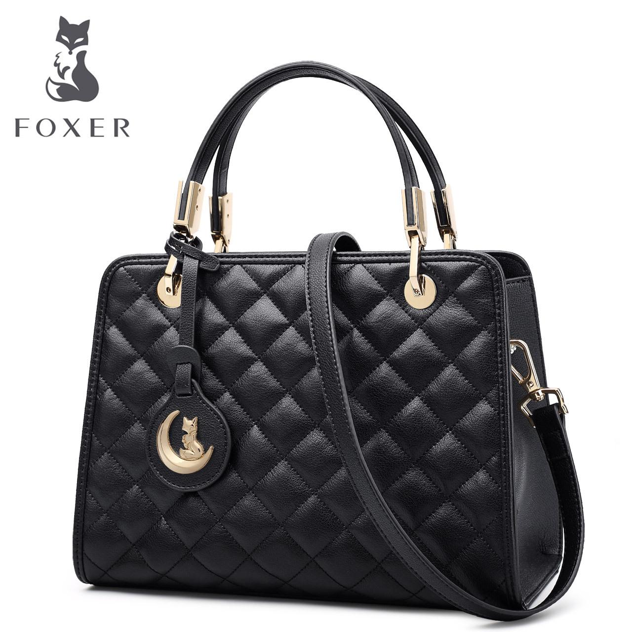 FO奢侈品女包国际大牌潮手提包时尚菱格单肩包女士斜挎包牛皮小包