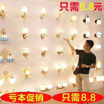 壁灯卧室床头灯现代简约创意欧式美式led墙壁灯客厅楼梯过道灯具