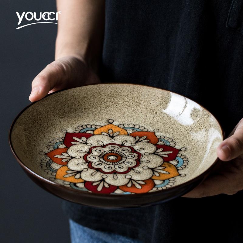 两件五创意牛排折中式盘西餐盘餐具圆形