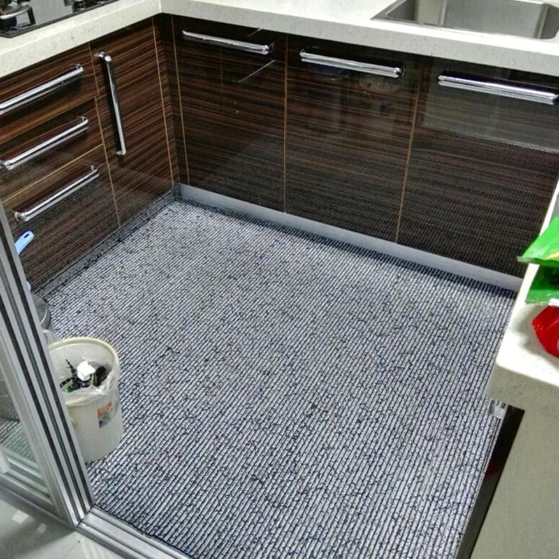 可裁剪定制pvc厨房地垫长条吸水吸油防滑垫满铺脚垫进门垫子防油