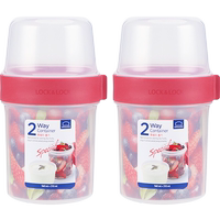 Locks and buckles double plastic storage box flagship store sealed cans snack separation set yogurt box storage tank