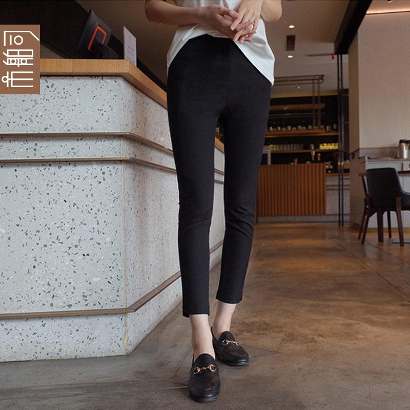 韩国 市舶司女装2019春装新款直筒修身高腰西装裤休闲裤女iS1475