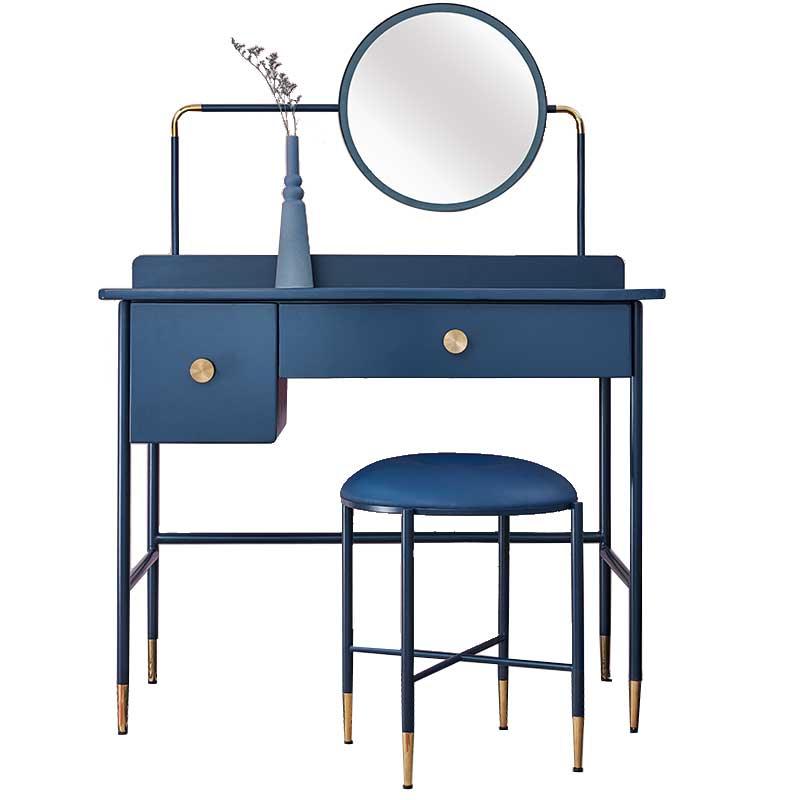 北欧梳妆台小户型 迷你卧室ins风化妆台经济型现代简约铁艺化妆桌