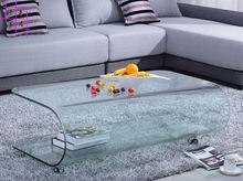 个性茶几现代热弯玻璃茶台时尚电视柜桌椅子组合简约欧式客厅家具