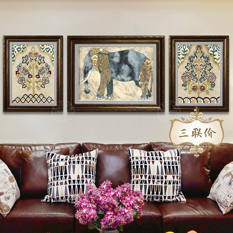 壁画客厅挂画大象