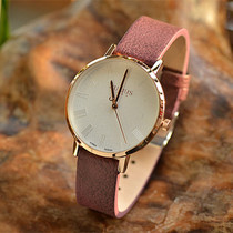 韩版大表盘女士手表皮带女表时装表时尚潮流学生腕表水钻石英表