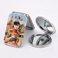 Shanghai special tourist souvenir makeup mirror folding mirror vanity mirror Chinese style small mirror to send foreigners small gifts