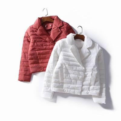 4509 冬装2017新款棉服女韩版西装领小棉袄时尚显瘦棉衣保暖外套