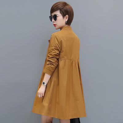 秋比2018新款秋季女装韩版单排扣小个子风衣女中长款薄款春秋外套