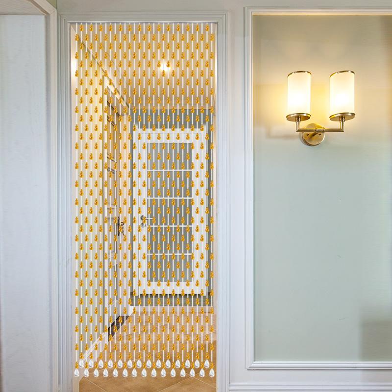 水晶珠帘葫芦风水门帘隔断帘 客厅新款厕所卫生间帘子卧室免打孔