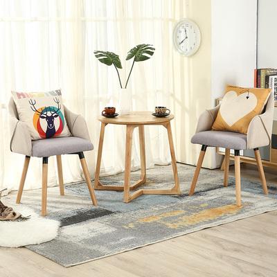 阳台桌椅创意三件套卧室迷你小茶几北欧休闲桌椅组合实木现代简约