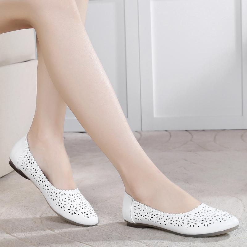 洞洞鞋白色女鞋