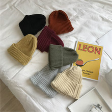 Net red chic Korean version baitaya ruffian hat pure color wool cap men and women autumn and winter students ins knitting warm Korea