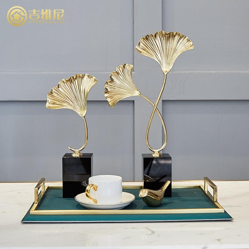 纯铜银杏叶创意摆件 应用效果