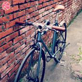 kolor复古变速公路车潮人上班通勤自行车学生男自行车英伦自行车