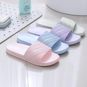 居家拖鞋女夏宾馆家用室内防滑卧室地板软底舒适情侣塑料托鞋批发