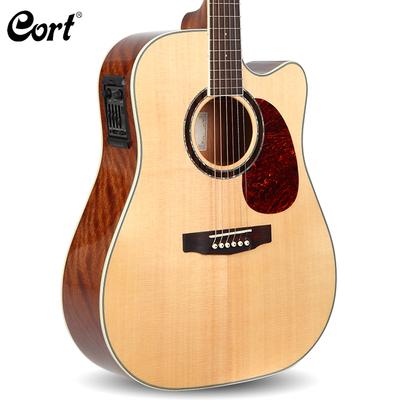 Cort考特民谣吉他MR730双单板电箱MR740木吉它41寸送大礼包评测