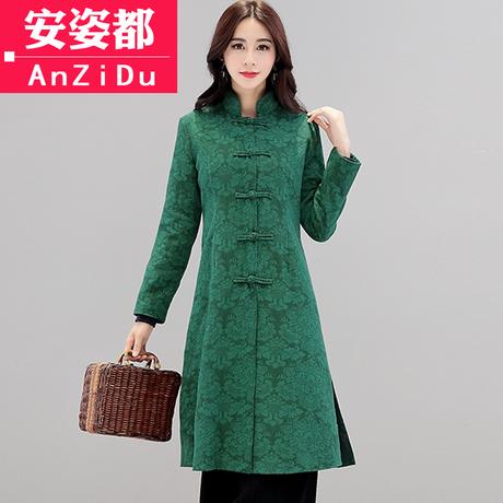 中国风女装改良旗袍中式上衣汉服唐装外套秋装复古风棉麻禅意茶服商品大图