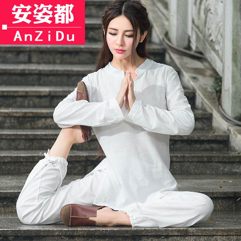 lay clothing women's suits cotton and linen Chinese style Chinese costumes Yoga clothes meditation meditation clothes
