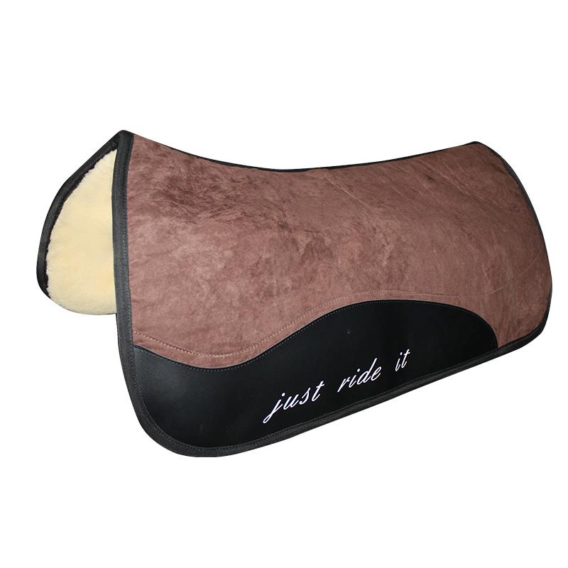 西部马鞍垫西部汗屉马鞍垫加长加厚高仿羊毛垫八尺龙马具舒适吸汗