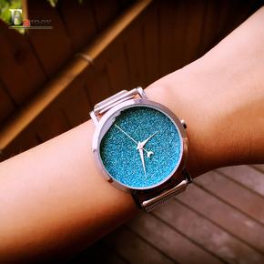 情人节礼物 译时夜空星光简洁创意设计中女表星空系列手表