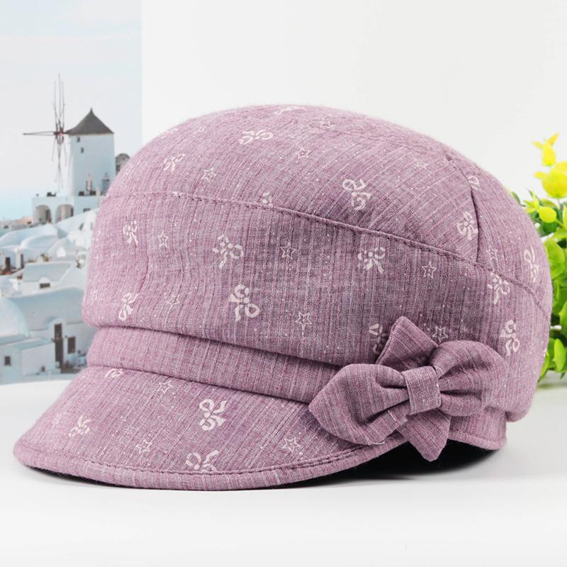 春秋天中老年人帽子女薄款透气布帽中年妈妈鸭舌帽夏天奶奶遮阳帽