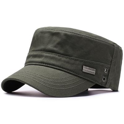 帽子男士新款鸭舌帽男潮秋冬季单帽户外休闲百搭棒球帽军帽平顶帽