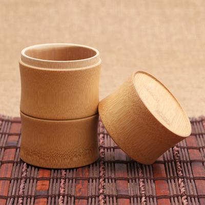 竹茗堂密封茶叶罐 天然竹制茶叶盒子大号竹筒 刻字醒茶叶桶楠竹杯